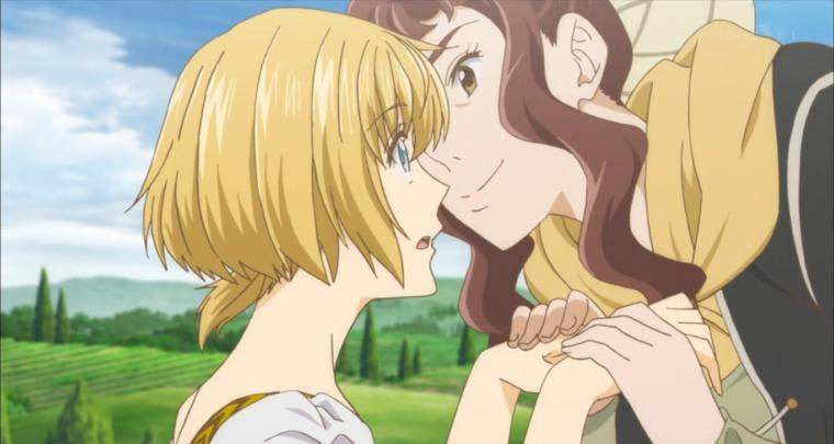 ルザンナに「レオのことよろしくね」と言われるアルテ」