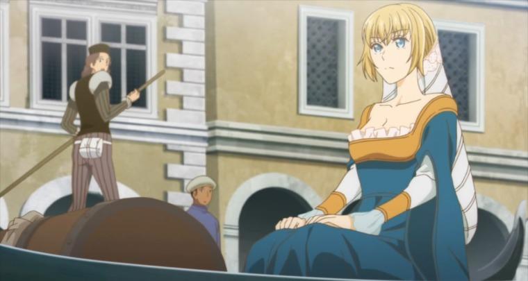 ドレスで正装したアルテ