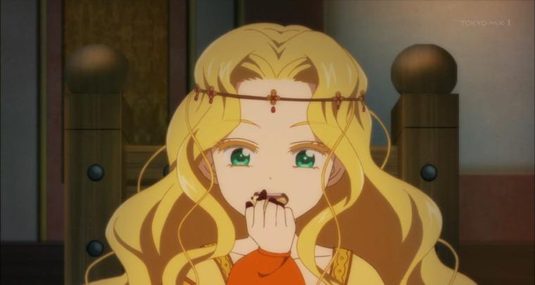 両親の前ではヴィーゴリを手づかみで食べるカタリーナ
